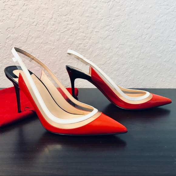 fa6c6b9c81c ❤️OPEN TO OFFERS❤️Paulina 85 Red Patent PVC Pumps NWT